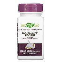 Чеснок, Кардио, Garlicin, Cardio, Nature's Way, 90 таблеток