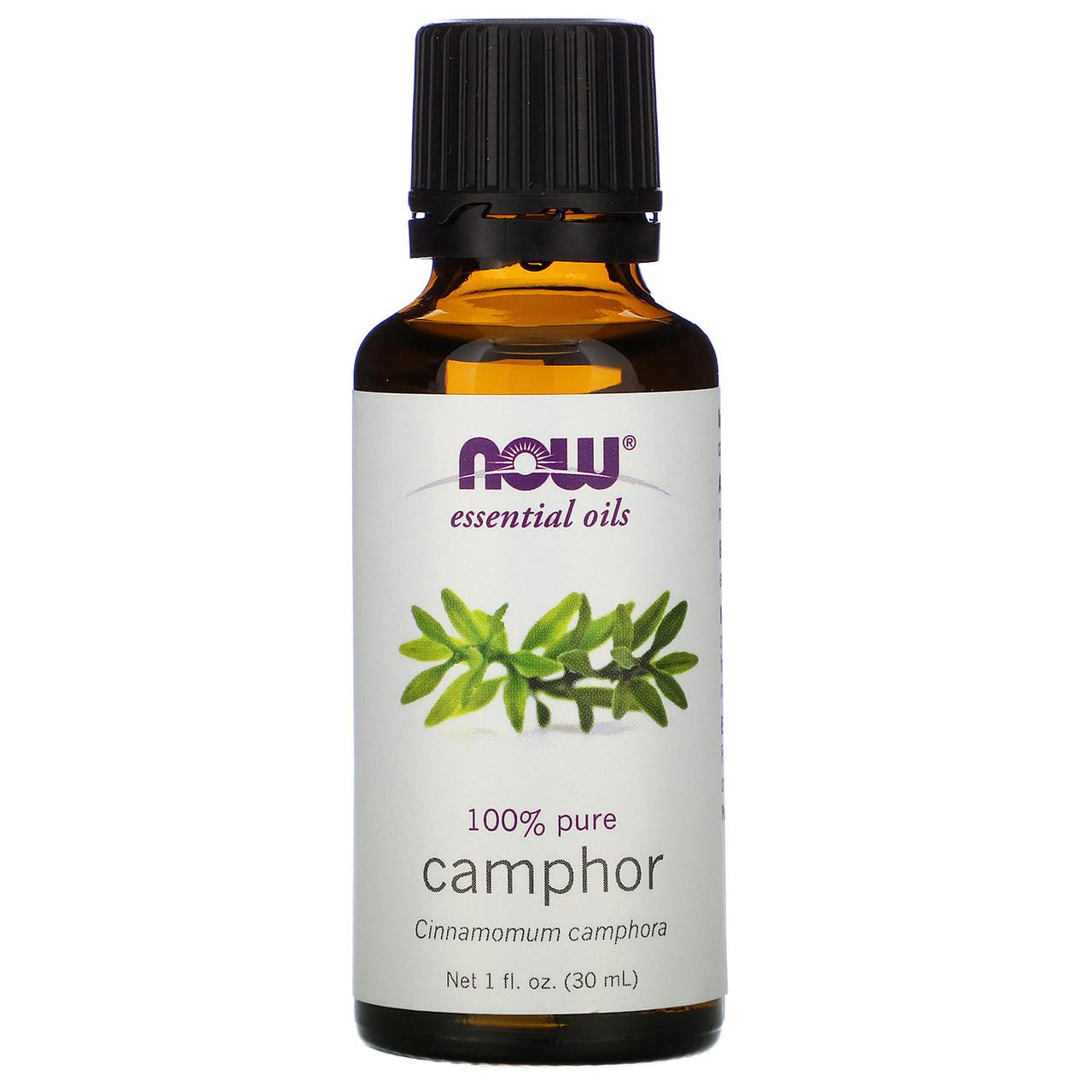 Ефірне масло камфори (Camphor), Now Foods, 30 мл