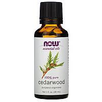 Эфирное масло кедра (Cedarwood), Now Foods, 30 мл