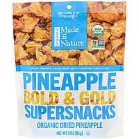 Ананасы сушеные, Pineapple, Made in Nature, 85 г