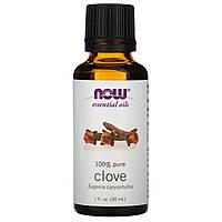 Эфирное масло гвоздики (Clove), Now Foods, 30 мл