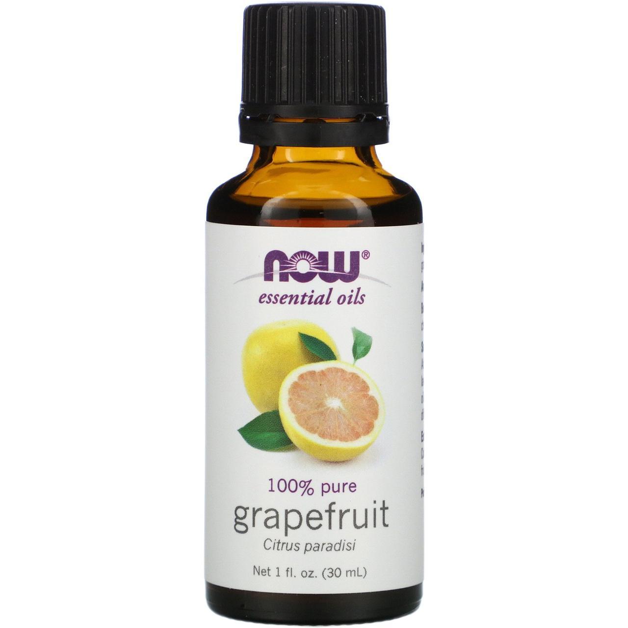 Эфирное масло грейпфрута (Grapefruit), Now Foods, 30 мл