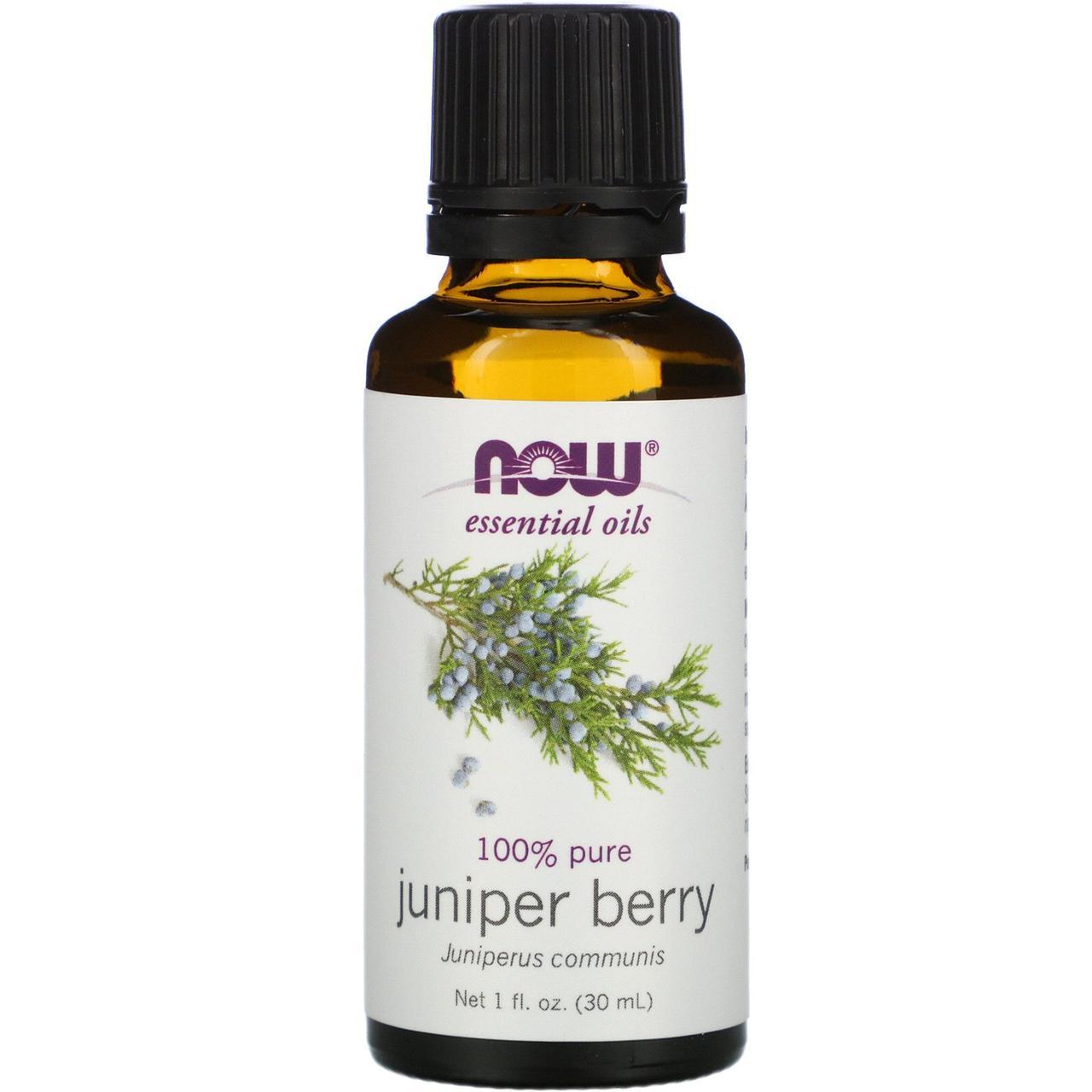Эфирное масло из ягод можжевельника (Juniper Berry), Now Foods, 30мл