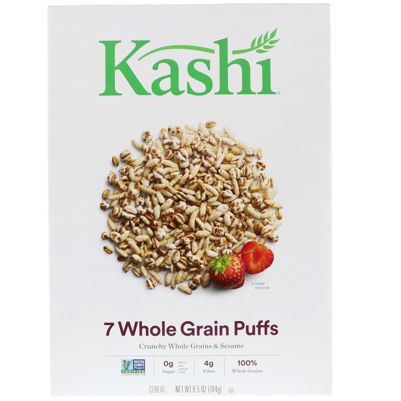 Kashi, Цельнозерновые воздушные подушечки из 7 злаков, 184 г (6,5 oz)
