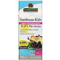 Черная бузина, для детей, Sambucus, Nature's Answer, 120 мл