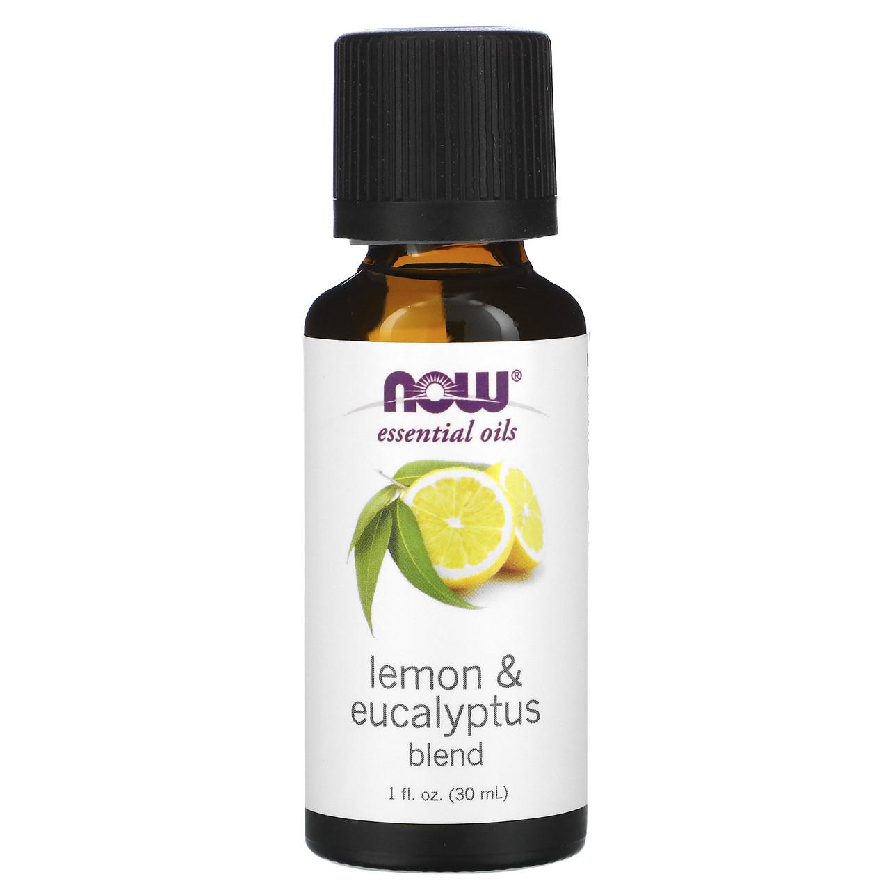 Масло эвкалипта, лимона (Lemon Eucalyptus), Now Foods, 30 мл
