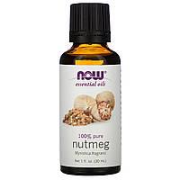 Эфирное масло мускатного ореха (Nutmeg), Now Foods, 30 мл
