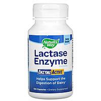Лактаза (Lactase), nature's Way, 100 капсул