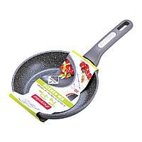 Маленькая сковорода 20 см с гранитным покрытием из алюминия для индукции и газа Kamille