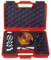Комплект фрезы насадной F=50 D=120 (алюм.) 7 ножей SP +7 огранич. (кейс) CMT 693.013.03, фото 1