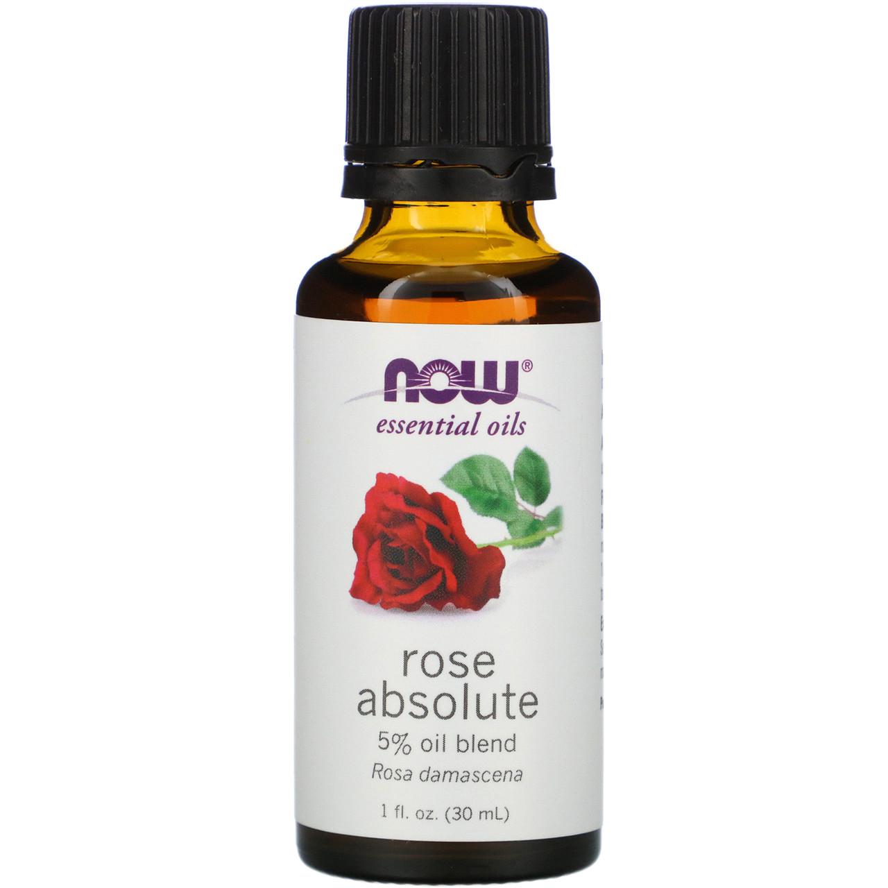 Эфирное масло розы (Rose), Now Foods, 30 мл