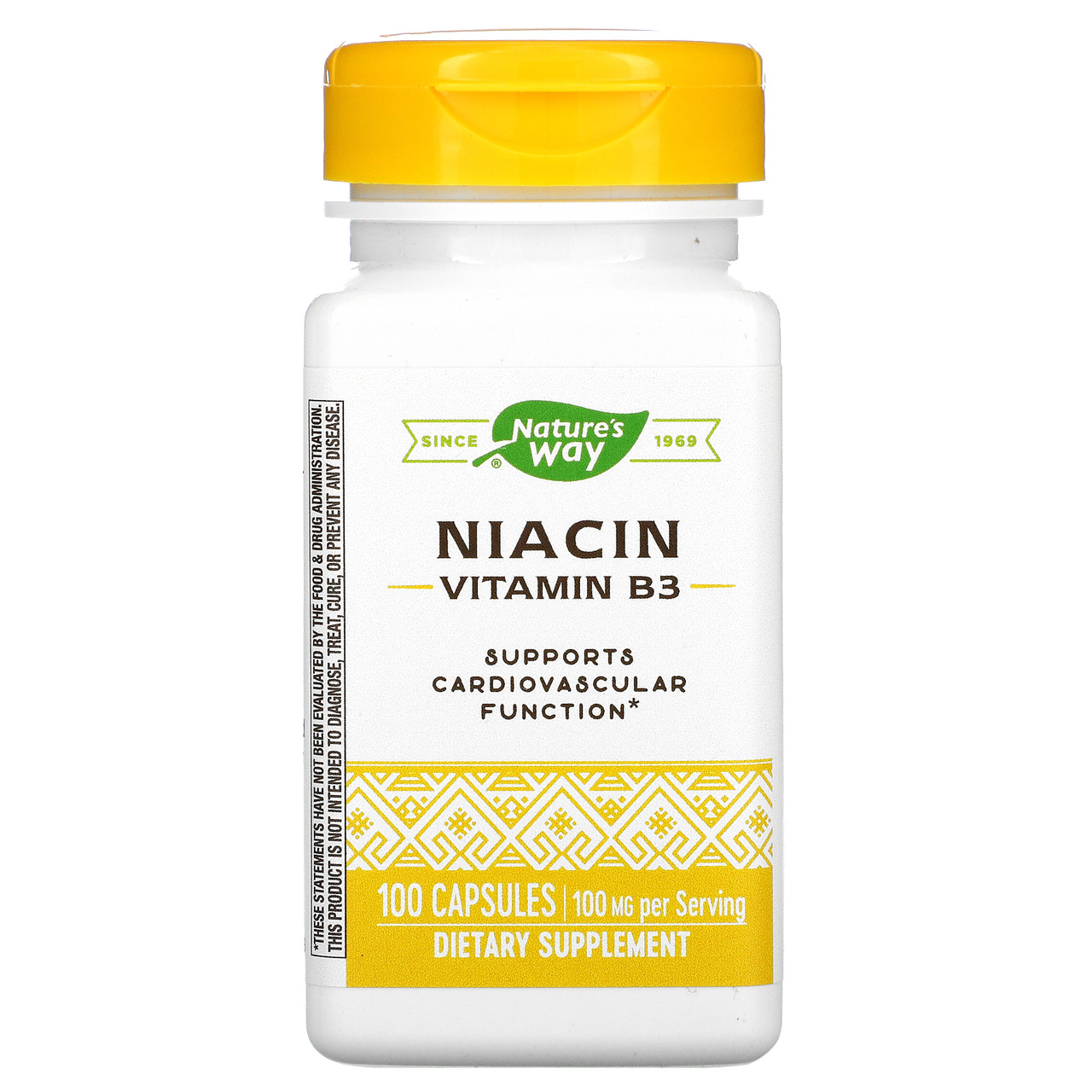 Вітамін В3, nature's Way, 100 мг, 100 капсул