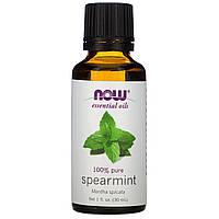 Эфирное мятное масло (Spearmint), Now Foods, 30 мл