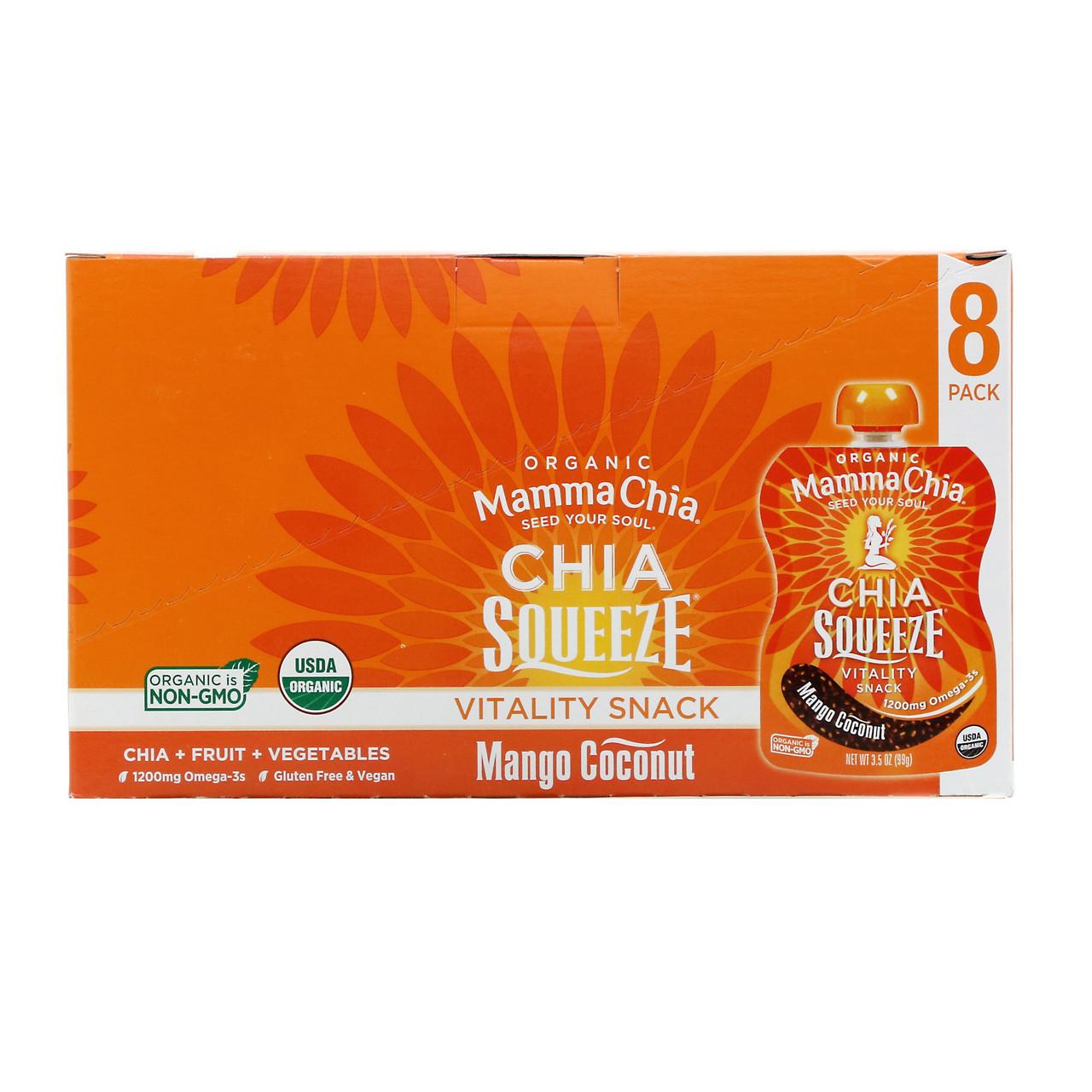 Насіння чіа, Chia Squeeze, Mamma Chia, 8 пак.