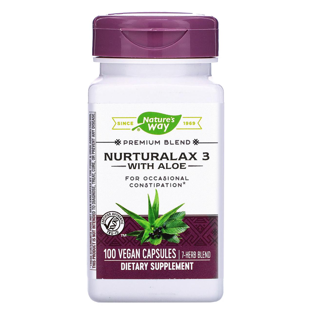 Алоэ вера (Naturalax3), Nature's Way, 430 мг, 100 капсул