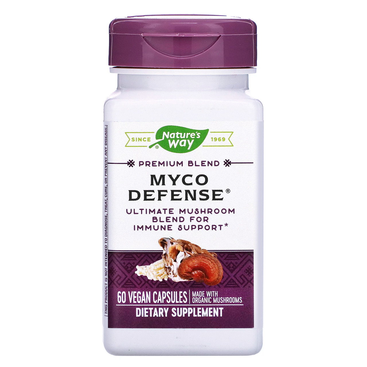 Витамин C с травами, для иммунитета, Natures Way, Myco Defense, 60 капсул