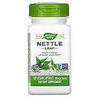 Листья крапивы, Nettle Leaf, Nature's Way, 345 мг, 100 капсул