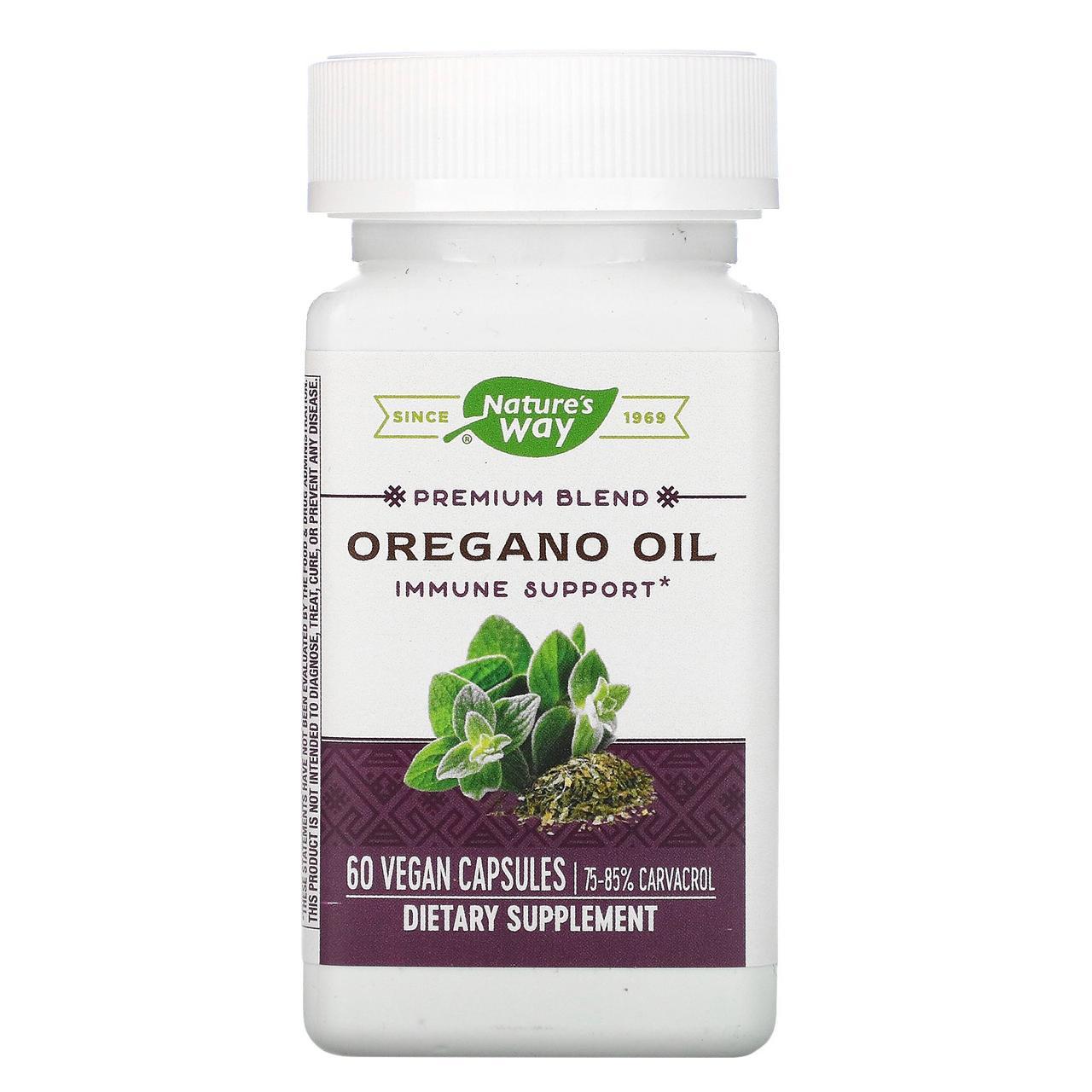 Масло орегано (Oregano Oil), nature's Way, 60 капсул