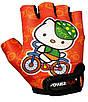 Велорукавички PowerPlay 5473 Kitty XS Помаранчеві (5473Kitty_XS_Orange), фото 2