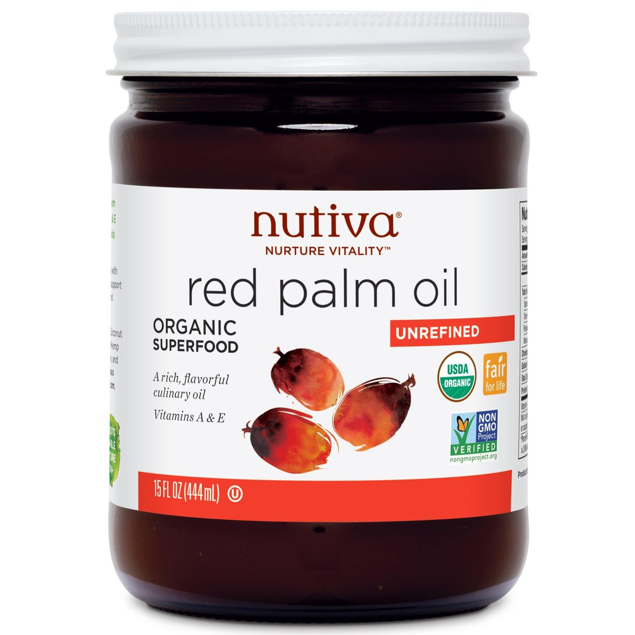 Червоне пальмове масло, Red Palm Oil, Nutiva, 444 мл