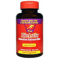 Гавайский астаксантин, Nutrex Hawaii, 4 мг, 120 кап