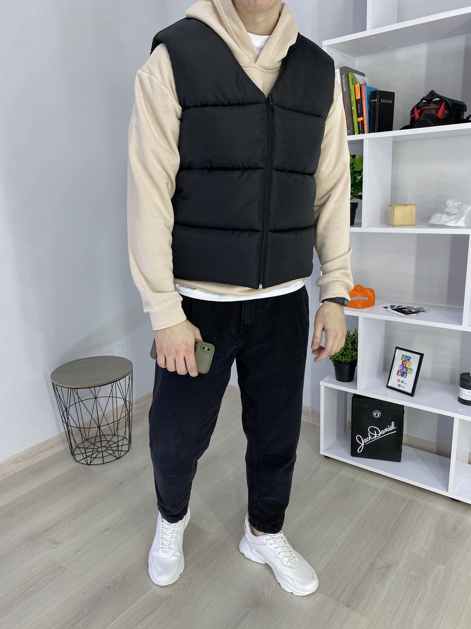 Жилет мужской черный от бренда ТУР модель Макс (Max) универсальный размер TУRWEAR