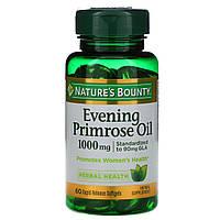 Масло вечерней примулы (Evening Primrose Oil), Nature's Bounty, 60 кап.
