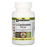 L-карнозин, Kirkman Labs, 200 мг, 90 капсул