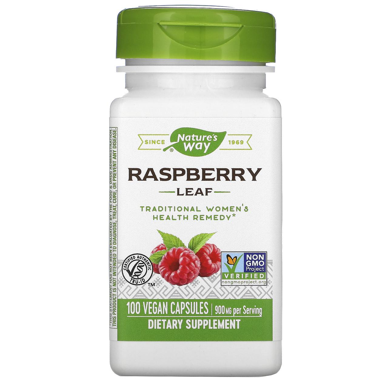 Червона малина (листя), nature's Way, 450 мг, 100 кап.