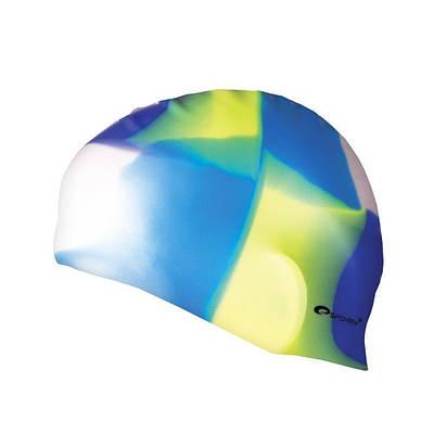 Шапочка для плавания Spokey Abstract Multicolor Cиликоновая (s0508)