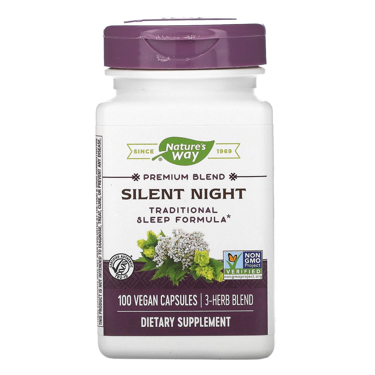Тихая ночь с валерианой, Nature's Way, 440 мг, 100 кап.