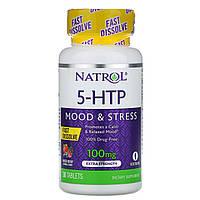 5-гидрокси L-триптофан (5-НТР), Natrol, 100 мг, 30 таб.