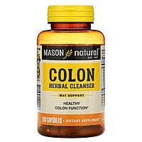 Mason Vitamins, Очищающее травяное средство для кишечника, 100 капсул