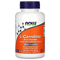 L-карнитин, L-Carnitine, Now Foods, 85 г