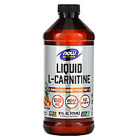 L-карнитин жидкий, L-Carnitine Liquid, Now Foods, 1000 мг, (473 мл)