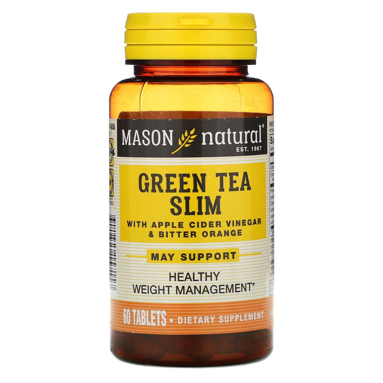 Зелений чай для схуднення, Mason Vitamins, 60 кап.