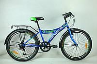 """Велосипед 24"""" GENERAL 1,0 STEEL (7 sp) синий"""