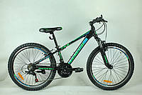 """Велосипед 24"""" GENERAL 3,0 ALLOY (21 sp) зелено-черный"""