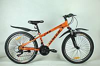 """Велосипед 24"""" GENERAL 4,0 STEEL (21 sp) черно-оранжевый"""