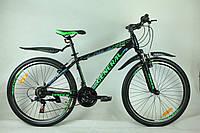 """Велосипед 26"""" GENERAL 5,0 STEEL (21 sp) зелено-черный"""