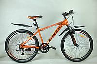 """Велосипед 26"""" GENERAL 6,0 STEEL (7 sp) черно-оранжевый, фото 1"""