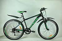 """Велосипед 26"""" GENERAL 6,0 STEEL (7 sp) зелено-черный"""