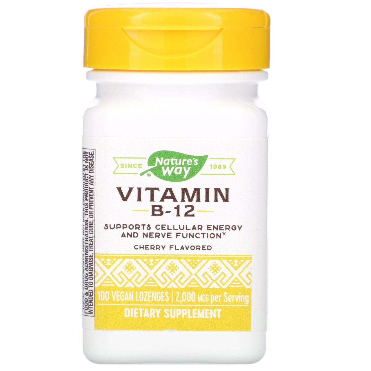 Витамин В12, Vitamin B-12, Nature's Way, 100 таб.