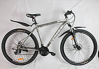 """Велосипед 29"""" GENERAL 10,0  ALLOY (21 sp) бело-серый"""