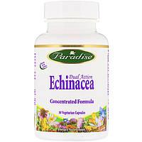 Paradise Herbs, Эхинацея двойного действия, 30 растительных капсул