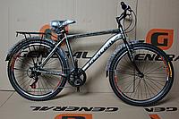 """Велосипед 26"""" GENERAL 5,1 STEEL (7 sp) черно-серый"""