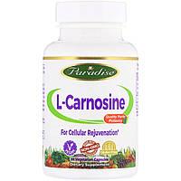 L-карнозин, Paradise Herbs, 60 капсул.