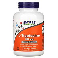 Триптофан антидепрессант, Now Foods,  L-Tryptophan 500 мг, 120 Капсул