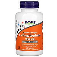 L- триптофан (L-Tryptophan), Now Foods, 1000 мг, 60 таблеток