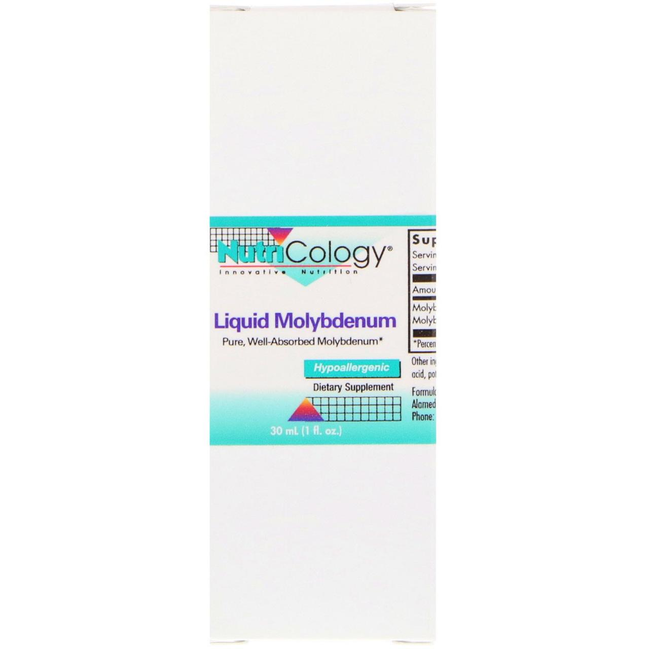 Молібден (Liquid Molybdenum), Nutricology, 30 мл.